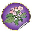 apple flower sticker violet vector image vector image