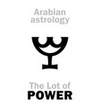 astrology lot of power vector image vector image