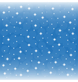 background blue sky with snowflakes vector image