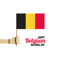 belguim national day 21 july vector image