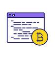 bitcoin mining software color icon vector image vector image
