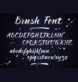 brush lettering alphabet vector image