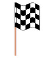 chequered racing flag vector image vector image