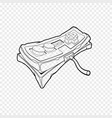 classic retro gempad icon old stylized play vector image vector image