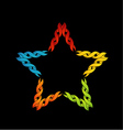 Colorful celtic star- Tattoo or decoration vector image vector image
