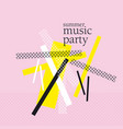 concept modern abstract party poster vector image vector image