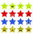 cute star emoji on white background vector image vector image
