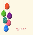 Doodle decorative colorful eggs line for Easter vector image vector image