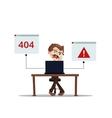 error 404 people cartoon laptop frustrated vector image vector image