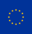 european union flag of europe vector image