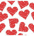 floral patterned heart seamless background vector image vector image