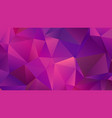 fuchsia pink low poly backdrop with triangles vector image