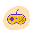 gamepad retro game controller vector image