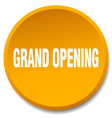 grand opening orange round flat isolated push vector image vector image