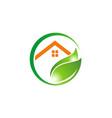 green house garden environment logo vector image