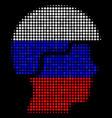 halftone russian soldier helmet icon vector image