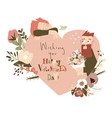 happy couple in love celebrating valentines day vector image vector image