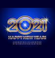 happy new year 2021 luxury alphabet set vector image vector image
