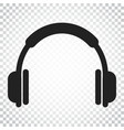headphone icon earphone headset sign business vector image