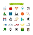 Healthy lifestyle flat icons vector image