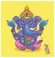 Indian god Ganesha vector image