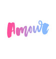 mon amour postcard my love in french phrase for vector image vector image