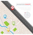 navigation concept with pin pointer vector image vector image