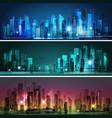 night city skyline vector image vector image