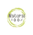 Percent Natural Food Label vector image vector image