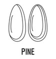 pine icon outline style vector image