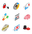 presentation icons set isometric style vector image vector image