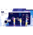 qa landing software testing quality assurance vector image