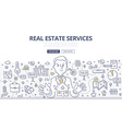 Real Estate Services Doodle Concept vector image