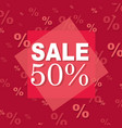 red discount poster vector image vector image