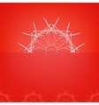 Red Geometric Pattern vector image vector image