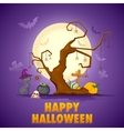 Scary cat in Halloween Night vector image vector image