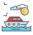 Sea travel yacht concept line icon