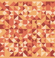 seamless pattern with autumn colored triangles vector image