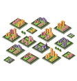 set of icons isometric house vector image vector image