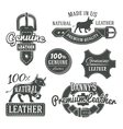 Set of vintage belt logo designs retro vector image vector image