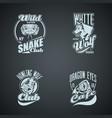 set vintage wild animal retro logos colored vector image vector image
