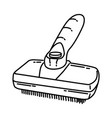 slicker brush icon doodle hand drawn or outline vector image