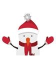 snowman cartoon icon vector image vector image
