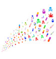 source stream narcotic drugs vector image vector image