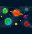 space cute background vector image vector image