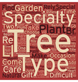 Specialty Trees A Beginner s Guide text background vector image vector image