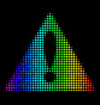 spectrum pixel warning icon vector image vector image