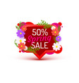 spring poster 50 percent off sale frame vector image vector image