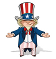 Uncle Sam Debating vector image vector image
