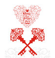 valentines day sale background with keys from your vector image vector image